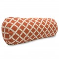 Burnt Orange Bamboo Round Bolster - Indoor/Outdoor