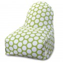 Hot Green Large Polka Dot Kick-It Chair - Indoor