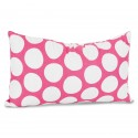 Hot Pink Large Polka Dot Small Pillow - Indoor