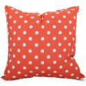 Orange Ikat Dot Large Pillow - Indoor/Outdoor