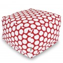 Red Hot Large Polka Dot Large Ottoman - Indoor