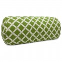 Sage Bamboo Round Bolster - Indoor/Outdoor