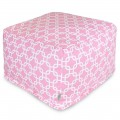 Soft Pink Links Large Ottoman - Indoor