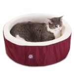 16 Burgundy Cat Cuddler Pet Bed By Majestic Pet Products