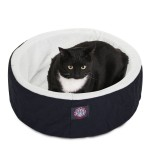 20 Black Cat Cuddler Pet Bed By Majestic Pet Products