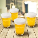 Personalized Glass Beer Cup Set - 2 Lines/15 Characters Glass Beer Cup Set