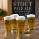 Personalized Pub Glass Set - 3 Beers