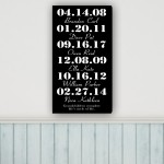 A Grandchild's Love Canvas Print - Black/White