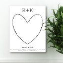 Our Story Guestbook & Keepsake Canvas - White
