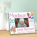 Personalized Baby Picture Frames - Baby Announcement Picture Frames - Pink