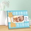 Personalized Baby Picture Frames - Baby Boy Blue Giraffe