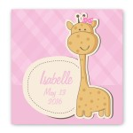 Baby Nursery Canvas Sign - Baby Girl Giraffe