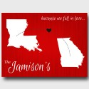 Wedding and Couples Wall Art - Because We Fell in Love Canvas - Red