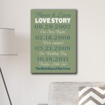 Best Days of Our Lives Canvas Print - Moss/Teal
