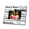 Personalized Maid of Honor Frame - Black on White