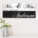 Personalized Mr. & Mrs. Couples Canvas Print