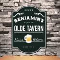 Personalized Classic Tavern Bar Signs - Olde Tavern