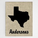 Country Home State Canvas Sign