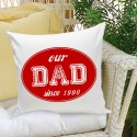 Dad Stamp Throw Pillow - Red