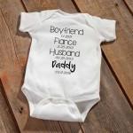 Daddy To Be Baby Announcement Bodysuit - Black