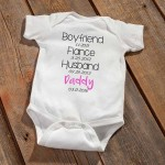 Daddy To Be Baby Announcement Bodysuit - Pink
