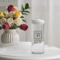 Elegant Monogram Floating Unity Candle (X22)