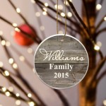Family Name Ceramic Ornament - Grey