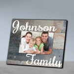 Family Frames - Family Wood Grain Picture Frame-Grey