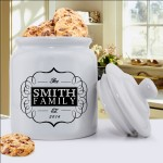 Personalized Mr. & Mrs. Wedding Ring Cookie Jar - Classic