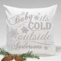Holiday Throw Pillow -  Its Cold Outside