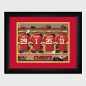 Personalized NFL Locker Room Print with Matted Frame - Kansas City Chiefs