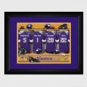 Personalized NFL Locker Room Print with Matted Frame - Minnesota Vikings