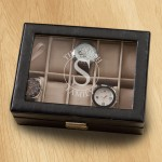 Monogrammed Watch Box - Circle