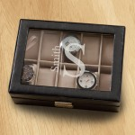 Monogrammed Watch Box - Modern