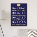 Our Love Story Canvas Print - Navy/Gold