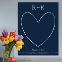 Our Story Guestbook & Keepsake Canvas - Navy