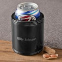 Personalized Black Metal Can Cooler