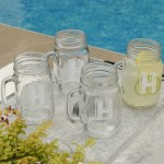 Personalized Classic Jar Glass Set - Kate Monogram