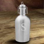 Personalized Double Wall Insulated Stainless Steel Beer Growler - Modern