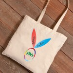 Personalized Easter Canvas Bags - Bunny Ears