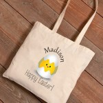 Personalized Easter Canvas Bags - Baby Chick