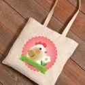 Personalized Easter Canvas Bags - Frilly Chick