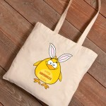 Personalized Easter Canvas Bags - Chick Bunny