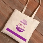 Personalized Easter Canvas Bags - Chevron