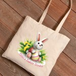 Personalized Easter Canvas Bags - Bunny Bouquet