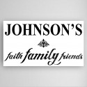 Personalized Faith, Family and Friends Canvas Sign - BlackWhite
