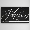Personalized Family Calli Chalkboard Canvas Sign