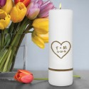 Personalized Heart of Love Unity Candle