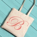 Personalized Initial Tote Peach
