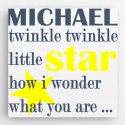 Personalized Kids Canvas Sign-Twinkle
